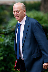 © Licensed to London News Pictures. 11/07/2017. London, UK. Transport Secretary CHRIS GRAYLING attends a cabinet meeting in Downing Street, London on Tuesday, 11 July 2017. Photo credit: Tolga Akmen/LNP