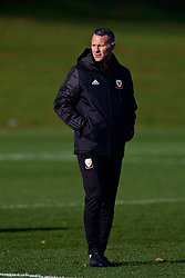 CARDIFF, WALES - Sunday, November 18, 2018: Wales' manager Ryan Giggs during a training session at the Vale Resort ahead of the International Friendly match between Albania and Wales. (Pic by David Rawcliffe/Propaganda)