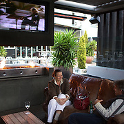 Aikman's Bar and Restaurant, Merivale,  Christchurch, South Island, New Zealand. 8th June 2011