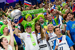 Mirjam Poterbin, mother of Luka Doncic of Slovenia and other supporters of Slovenia prior to the Final basketball match between National Teams  Slovenia and Serbia at Day 18 of the FIBA EuroBasket 2017 at Sinan Erdem Dome in Istanbul, Turkey on September 17, 2017. Photo by Vid Ponikvar / Sportida