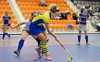 ROTTERDAM - Hilversum tegen Beuningen met de vliegende keepers.  Landskampioenschap zaalhockey voor reserveteams. FOTO KOEN SUYK