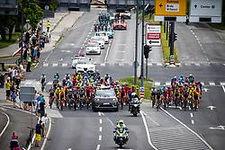 Peloton at Dolgi most - Ljubljana during the 5th Stage of 27th Tour of Slovenia 2021 cycling race between Ljubljana and Novo mesto (175,3 km), on June 13, 2021 in Slovenia. Photo by Matic Klansek Velej / Sportida