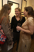 """Daisy de Villeneuve, Laura Parker Bowles and Natasha Law.  """"Hold""""  exhibition of woirk by Natasha Law at Eleven.  January 12 2006. London. ONE TIME USE ONLY - DO NOT ARCHIVE  © Copyright Photograph by Dafydd Jones 66 Stockwell Park Rd. London SW9 0DA Tel 020 7733 0108 www.dafjones.com"""