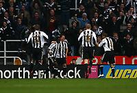 Photo: Andrew Unwin.<br />Newcastle United v Tottenham Hotspur. The Barclays Premiership. 23/12/2006.<br />Newcastle's Obafemi Martins celebrates his goal