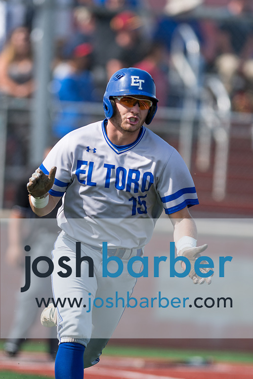 El Toro's Josh Zamora during the CIF-SS Division 1 Baseball Semifinal: El Toro v Mater Dei at Mater Dei High School on Tuesday, May 30, 2017 in Santa Ana, California. (Photo/Josh Barber)