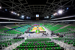 View of arena during basketball match between National teams of Slovenia and Ukraine in Round #3 , Group F of FIBA Eurobasket Qualifiers, on November 28, 2020 in Arena Stozice, Ljubljana, Slovenia. Photo by Vid Ponikvar/ FIBA / Sportida