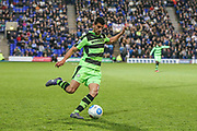 Forest Green Rovers Omar Bugiel(11) crosses the ball during the Vanarama National League match between Tranmere Rovers and Forest Green Rovers at Prenton Park, Birkenhead, England on 11 April 2017. Photo by Shane Healey.