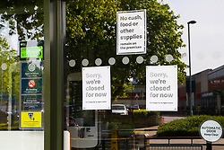 © Licensed to London News Pictures. 07/05/2020. London, UK. McDonalds restaurants have been closed since 23 March following coronavirus lockdown to slow the spread of the COVID-19 . The company has announced that 15 restaurants will open on 13 May. Photo credit: Dinendra Haria/LNP