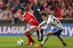 December 5, 2017 - Na - Lisbon, 05/12/2017 - Sport Lisboa e Benfica received FC Basel this evening at Estádio da Luz in the game to count for 6th day of the group stage of the Champions League 2017/2018. Jonas and Taulant Xhaka  (Credit Image: © Atlantico Press via ZUMA Wire)