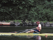 Lucerne, SWITZERLAND  Silver medalist BEL W1X, Ann Elise BREDAEL. 1992 FISA World Cup Regatta, Lucerne. Lake Rotsee.  [Mandatory Credit: Peter Spurrier: Intersport Images] 1992 Lucerne International Regatta and World Cup, Switzerland