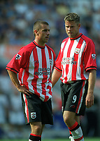 Kevin Phillips and James Beattie (Southampton) Leicester City v Southampton, FA Premiership, 16/08/2003. Credit: Colorsport / Matthew Impey DIGITAL FILE ONLY