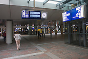 People in the concourse of Rotterdam Central railway station, Netherlands