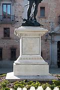 Statue of Alvaro de Bazan, Spanish Admiral . Plaza de la Villa, Madrid, Spain