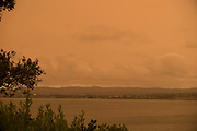 On Jan 5th 2020, the sky above Auckland turned orange / yellow, the light faded and the birds stopped singing. Much like during an eclipse of the sun, temperatures dropped and the wind picked up. The apocalyptic scenery was caused by heavy smoke plumes, drifting in from the Australian fires that devastated huge swaths of Australia in the summer 2019/2020.