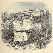 The Golden Gate, [Eastern Gate, leads to Temple Mount It has been walled up since medieval times]. Jerusalem From the book 'Those holy fields : Palestine, illustrated by pen and pencil' by Manning, Samuel, 1822-1881; Religious Tract Society (Great Britain) Published in 1874