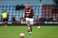 Dimitri Payet of West Ham United during pre match warm up. The Emirates FA cup, 3rd round match, West Ham Utd v Wolverhampton Wanderers at the Boleyn Ground, Upton Park  in London on Saturday 9th January 2016.<br /> pic by John Patrick Fletcher, Andrew Orchard sports photography.