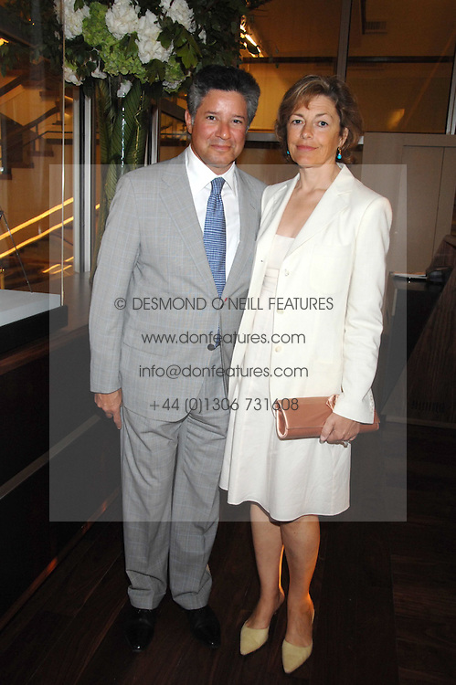 Writer FLORA FRASER and her husband PETER SOROS at a dinner hosted by Vogue in honour of Antony Gormley held at the new Skylon restaurant at the refurbished Royal Festival Hall, South Bank, London on 22nd May 2007.<br /><br />NON EXCLUSIVE - WORLD RIGHTS