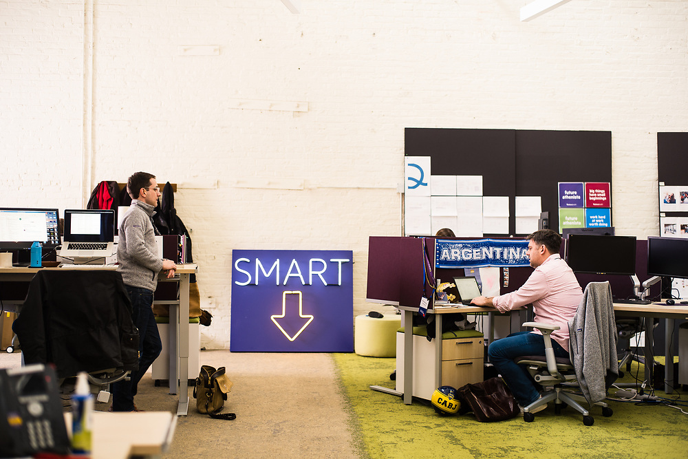 WATERTOWN, MA – MARCH 14, 2019: Scenes from the Athenahealth headquarters.