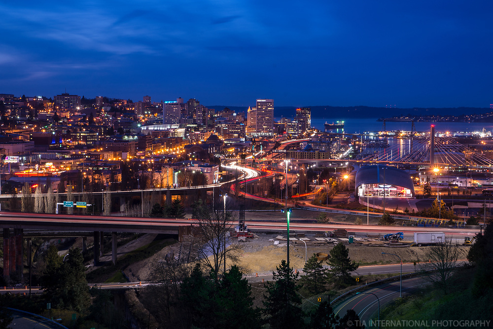 Downtown Tacoma & Interstate 5, Blue Hour