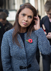 © Licensed to London News Pictures. 03/11/2016. London, UK. Brexit challenger Gina Miller talks to reporters outside the High Court. High Court has ruled that Parliament must be consulted before the Government trigger article 50 and the UK exit from the EU. Photo credit: Peter Macdiarmid/LNP