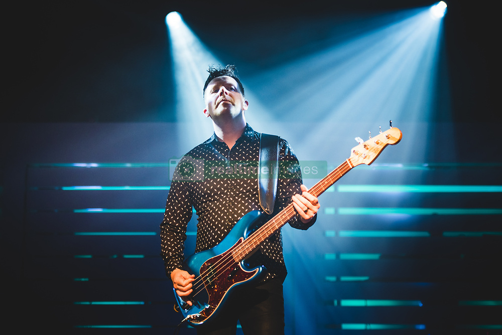 May 5, 2018 - Turin, Torino, Italy - The English rock band New Order performing live on stage in Torino for their single Italian concert at the Officine Grandi Riparazioni (OGR).ss (Credit Image: © Alessandro Bosio/Pacific Press via ZUMA Wire)
