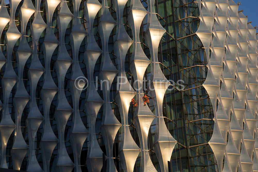 The new US Embassy building construction site in the Nine Elms area of Wandsworth, London, England, United Kingdom.