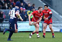 Andy Uren of Bristol Rugby - Mandatory by-line: Robbie Stephenson/JMP - 13/01/2018 - RUGBY - Castle Park - Doncaster, England - Doncaster Knights v Bristol Rugby - B&I Cup