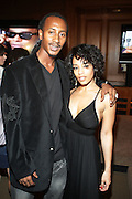 l to r: Lil' Doc and Melyssa Ford at the Maxwell Press conference announcing his first new album in eight years, ' BLACKsummers'night,'  held at The Sony Club on April 28, 2009 in New York City