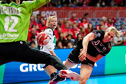 08-12-2019 JAP: Netherlands - Germany, Kumamoto<br /> First match Main Round Group1 at 24th IHF Women's Handball World Championship, Netherlands lost the first match against Germany with 23-25. / Danick Snelder #10 of Netherlands, Dinah Eckerle #12 of Germany