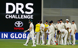 Australia's Steve Smith walks off after being dismissed during day three of the Ashes Test match at the Adelaide Oval, Adelaide.