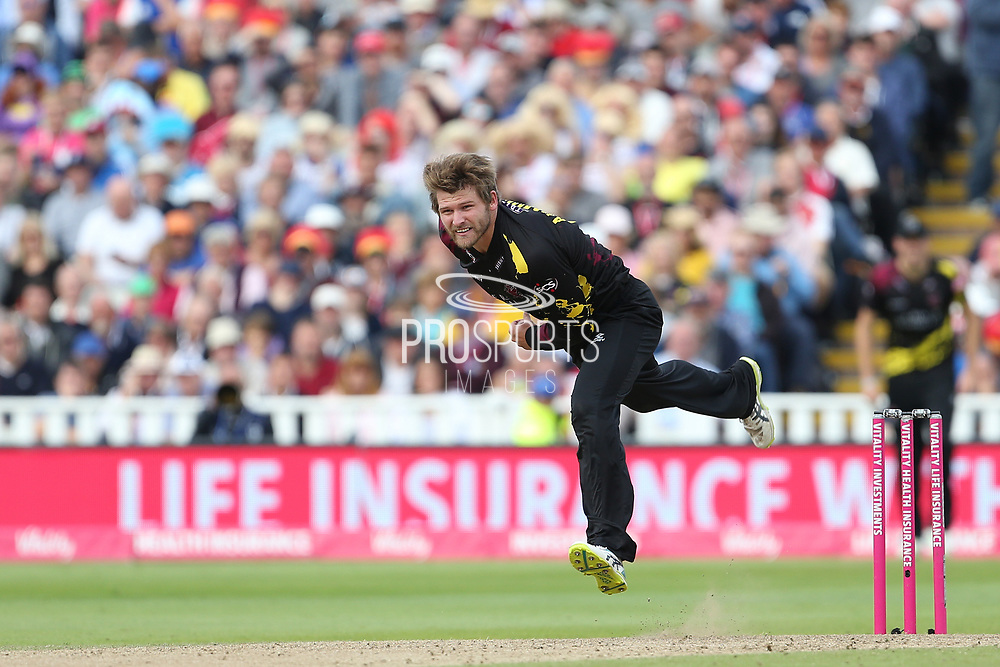 Somersets Corey Anderson during the Vitality T20 Finals Day semi final 2018 match between Sussex Sharks and Somerset at Edgbaston, Birmingham, United Kingdom on 15 September 2018.
