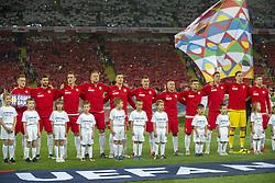 October 14, 2018 - Chorzow, Poland - Polish national football team during the UEFA Nations League A match between Poland and Italy at Silesian Stadium in Chorzow, Poland on October 14, 2018  (Credit Image: © Andrew Surma/NurPhoto via ZUMA Press)