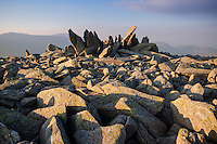 Rocky summit of Glyder Fach, Snowdonia national park, Wales