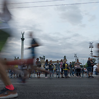 People participate the Half Marathon running festival after COVID-19 restrictions were lifted in downtown Budapest, Hungary on July 25, 2020. ATTILA VOLGYI