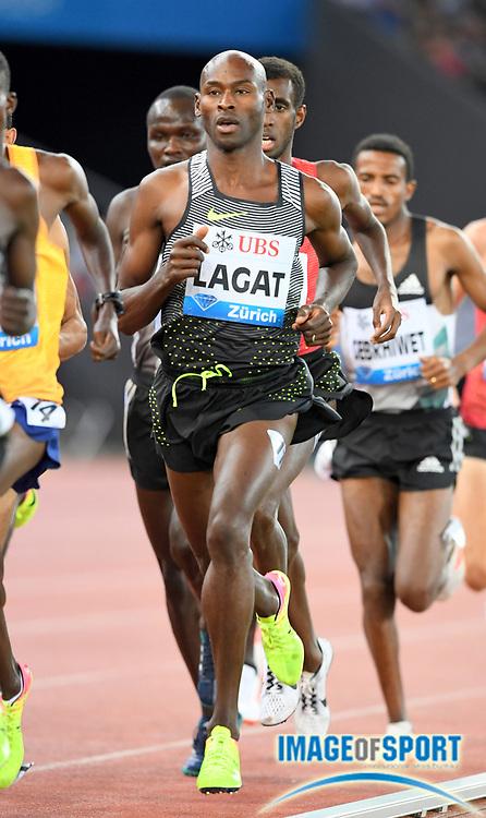 Sep 1, 2015; Zurich, SWITZERLAND; Bernard Lagat (USA) places sixth in the 5,000m in 13:19.73 at the 2016 Weltklasse Zurich during an IAAF Diamond League meeting at Letzigrund Stadium. Photo by Jiro Mochizuki
