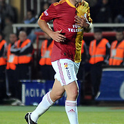 Galatasaray's Lucas NEILL during their Turkish Super League soccer match Galatasaray between Bursaspor at the AliSamiYen Stadium at Mecidiyekoy in Istanbul Turkey on Sunday 25 April 2010. Photo by TURKPIX