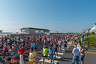 Spring Lake, NJ, USA – May 28, 2018. Athletes running the Spring Lake 5 Mile Race on Ocean Avenue. Editorial Use Only.