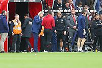Football - 2019 / 2020 Premier League - AFC Bournemouth vs. West Ham United<br /> <br /> West Ham United Manager Manuel Pellegrini speaks to Bournemouth's Assistant Manager Jason Tindall after the final whistle at the Vitality Stadium (Dean Court) Bournemouth <br /> <br /> COLORSPORT/SHAUN BOGGUST