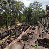 Ta Keo, an unfinished temple, was supposed to be  the state temple of Jayavarman V. Built at the beginning of the 11th century under the reign of Jayaviravarman, the construction was stopped by his rival, Suryavarman I, as soon as he gained access to the throne.
