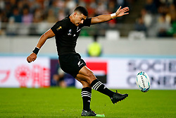 Richie Mo'unga of New Zealand (All Blacks) during the Bronze Final match between New Zealand and Wales Mandatory by-line: Steve Haag Sports/JMPUK - 01/11/2019 - RUGBY - Tokyo Stadium - Tokyo, Japan - New Zealand v Wales - Bronze Final - Rugby World Cup Japan 2019