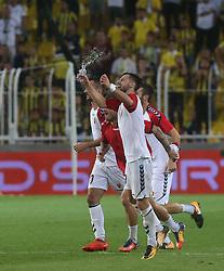 August 24, 2017 - °Stanbul, Türkiye - Vardar players celebrate their victory during Fenerbahce vs. Vardar UEFA Europe League Game at Ulker Stadium, Kadikoy, Istanbul, Turkey (Credit Image: © Tolga Adanali/Depo Photos via ZUMA Wire)