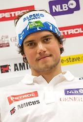 Bostjan Kline during press conference of Slovenian Men Alpine Ski Team, on August 22, 2011, in SZS, Ljubljana, Slovenia. (Photo by Vid Ponikvar / Sportida)