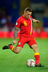 Craig Bellamy of Wales (Cardiff City) in action during the second half of the match - Photo mandatory by-line: Rogan Thomson/JMP - Tel: Mobile: 07966 386802 10/09/2013 - SPORT - FOOTBALL - Cardiff City Stadium - Cardiff -  Wales V Serbia- World Cup Qualifier.