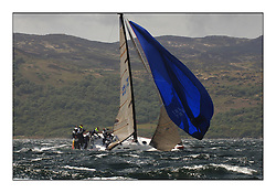 Day 2 of the Bell Lawrie Scottish Series with wild conditions on Loch Fyne for all fleets. Exhilarating and testing racing for Boats and crew...Class 2 IRL789 Rosie.