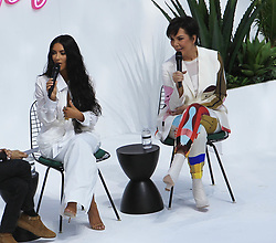 June 19, 2018 - Los Angeles, California, USA - 6/18/18.Kim Kardashian West and Kris Jenner speak onstage during the ''Creating Cultural Moments'' panel at the BoF West Summit at Westfield Century City, CA. (Credit Image: © Starmax/Newscom via ZUMA Press)