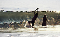Bodysurfing at Compton Bay, Isle of Wight