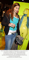 MISS ZARA SIMON daughter of Peter Simon owner of Monsoon, at a party in London on 16th February 2003.	PHH 3