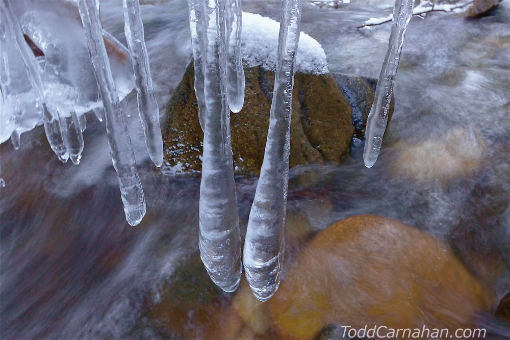 icicles water stream ice