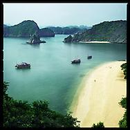 Sand beach in Halong Bay