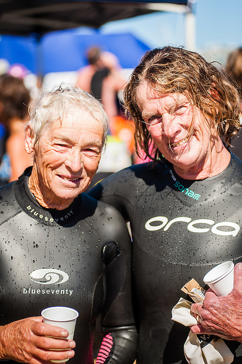 WELLINGTON, NEW ZEALAND - January 25:State Ocean Swim competitor  who has just finished the 3.3 km race,   January 25, 2015 in Wellington, New Zealand.  REAL PEOPLE.  (Photo by Elias Rodriguez/ real-people.co.nz)